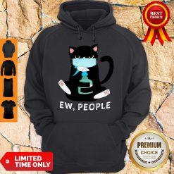 Black Cat Face Mask Ew People Hoodie