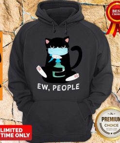 Black Cat Face Mask Ew People Hoodie