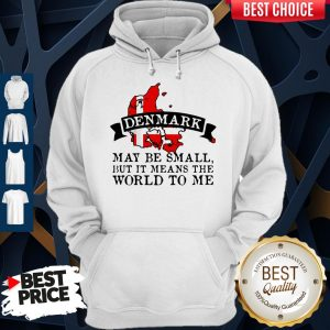 Denmark May Be Small But It Means The World To Me Map Hoodie