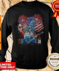 Santa Wine Guitar American Flag Veteran Independence Day Sweatshirt