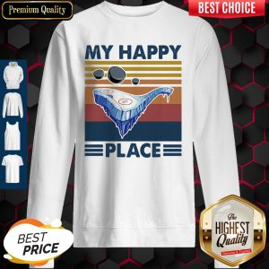 Funny Hockey My Happy Place Vintage Sweatshirt