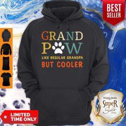 Grand Paw Like A Regular Grandpa But Cooler Dog Love Vintage Hoodie