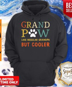 Grand Paw Like A Regular Grandpa But Cooler Dog Love Vintage Hoodie