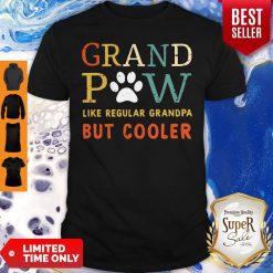 Grand Paw Like A Regular Grandpa But Cooler Dog Love Vintage Shirt