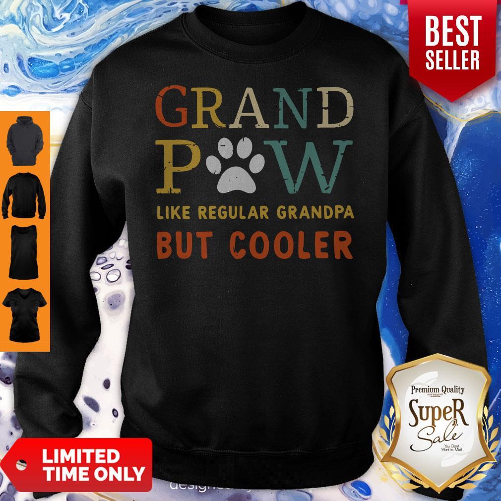 Grand Paw Like A Regular Grandpa But Cooler Dog Love Vintage Sweatshirt