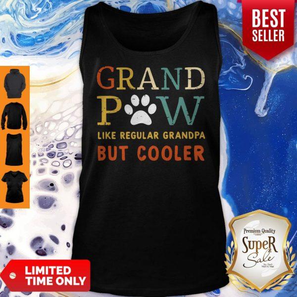 Grand Paw Like A Regular Grandpa But Cooler Dog Love Vintage Tank Top