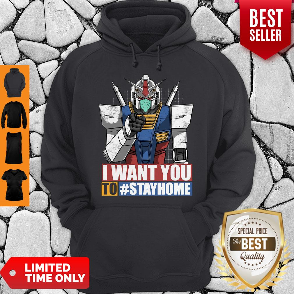 Gundam I Want You To Stay Home Hoodie