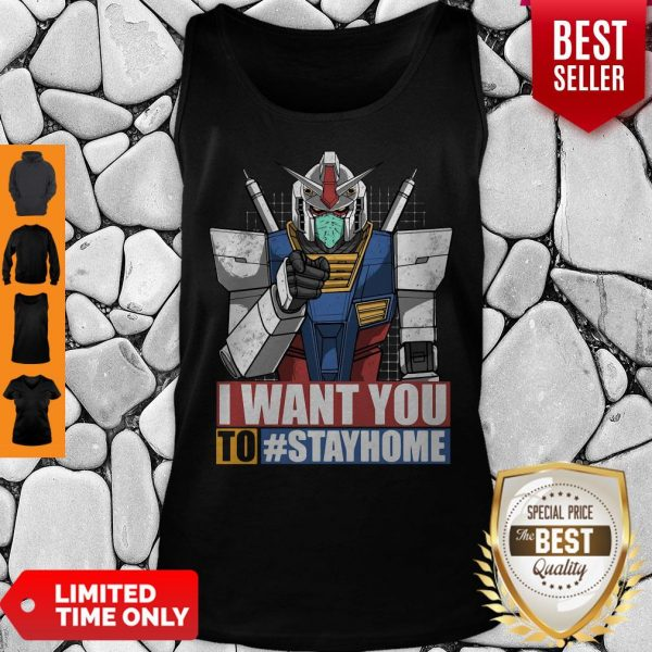 Gundam I Want You To Stay Home Tank Top
