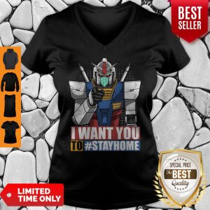 Gundam I Want You To Stay Home V-neck