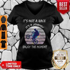 It's Not A Race It's A Journey Cycling Enjoy The Moment V-neck
