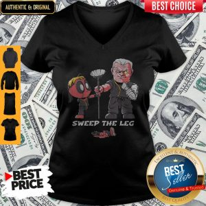 Nice Clothing Sweep The Leg Funny Deadpool Cable V-neck