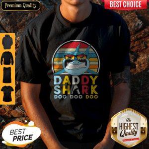 Nice Vintage Daddy Shark Doo Doo Doo Shirt
