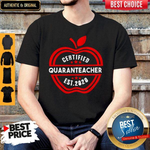 Official Apple Certified Quaranteacher Est 2020 Shirt