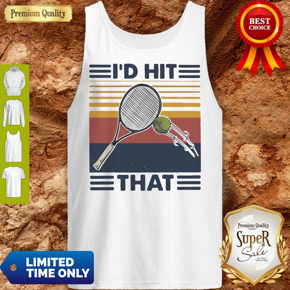 Official I'd Hit That Tennis Vintage Tank Top
