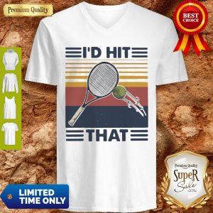 Official I'd Hit That Tennis Vintage V-neck
