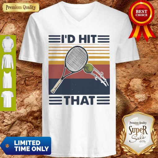Official I'd Hit That Tennis Vintage V-neck