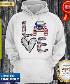 Official Love Jeep American Flag Hoodie