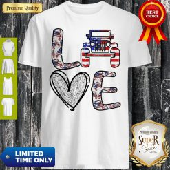 Official Love Jeep American Flag Shirt