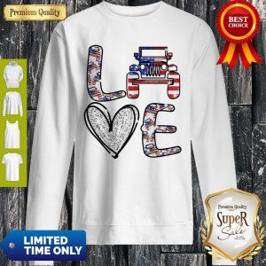 Official Love Jeep American Flag Sweatshirt