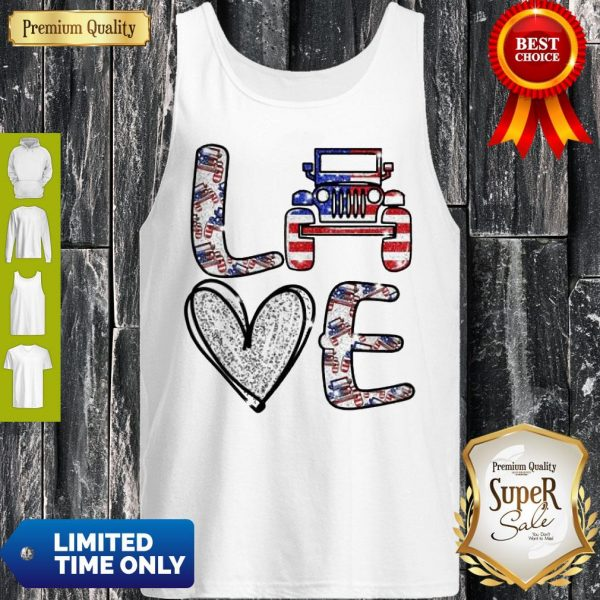 Official Love Jeep American Flag Tank Top