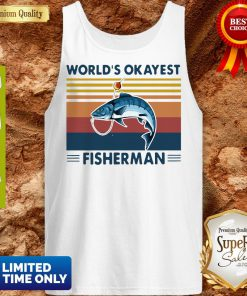 Official Worlds Okayest Fisherman Vintage Tank Top