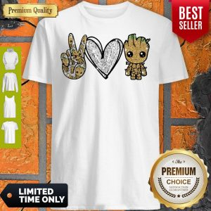 Official Peace Love Baby Groot Shirt