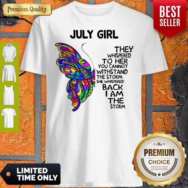 Official Butterfly July Girl Shirt