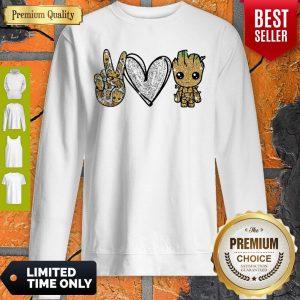 Official Peace Love Baby Groot Sweatshirt
