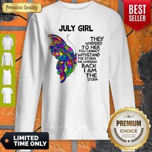 Official Butterfly July Girl Sweatshirt