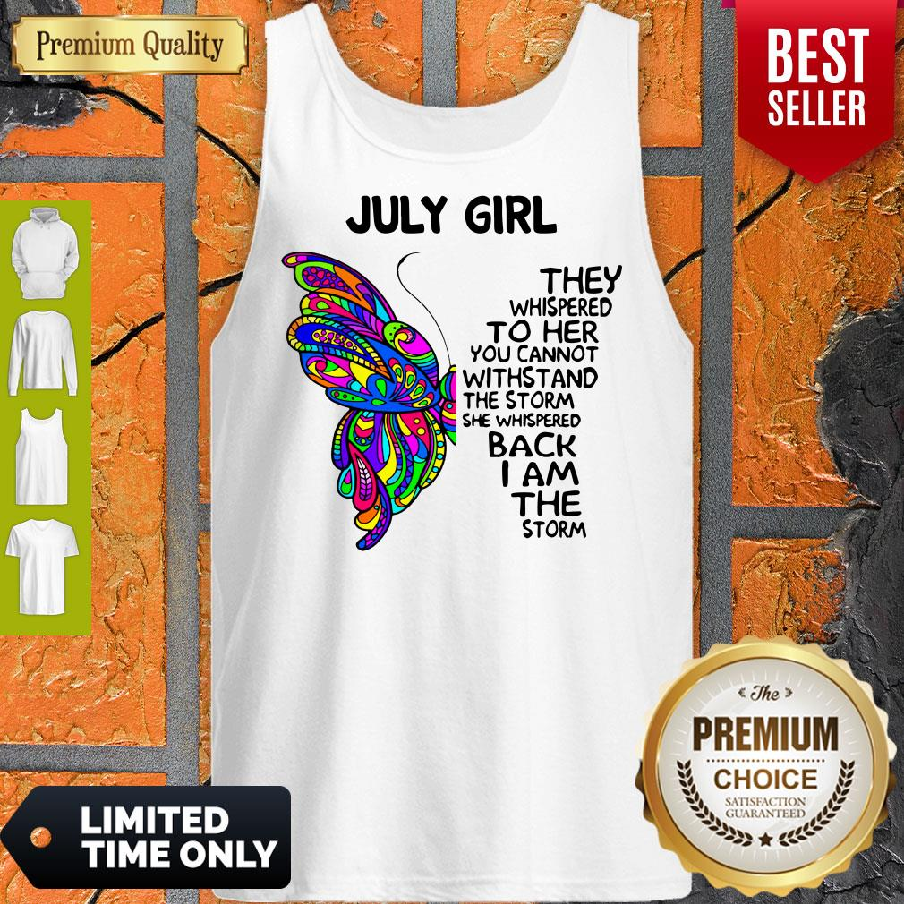 Official Butterfly July Girl Tank Top