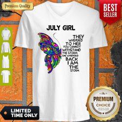 Official Butterfly July Girl V-neck
