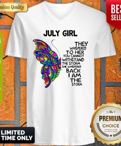 Official Butterfly July Girl V-neck