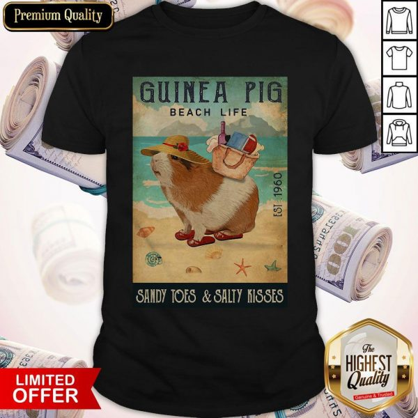 Guinea Pig Beach Life Sandy Toes And Salty Kisses Shirt