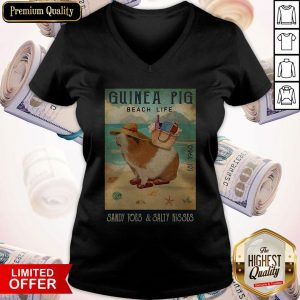 Guinea Pig Beach Life Sandy Toes And Salty Kisses V- neck