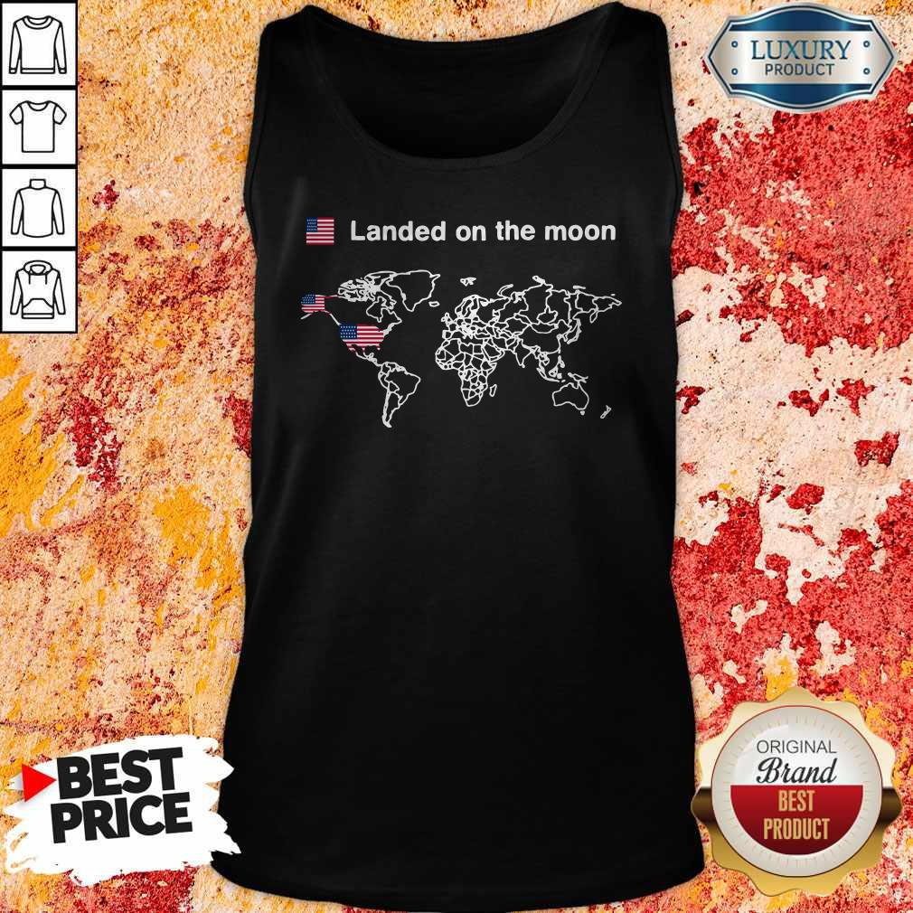 America Landed On The Moon Tank Top