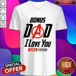 Avengers Bonus Dad I Love You Three Thousand V- neck