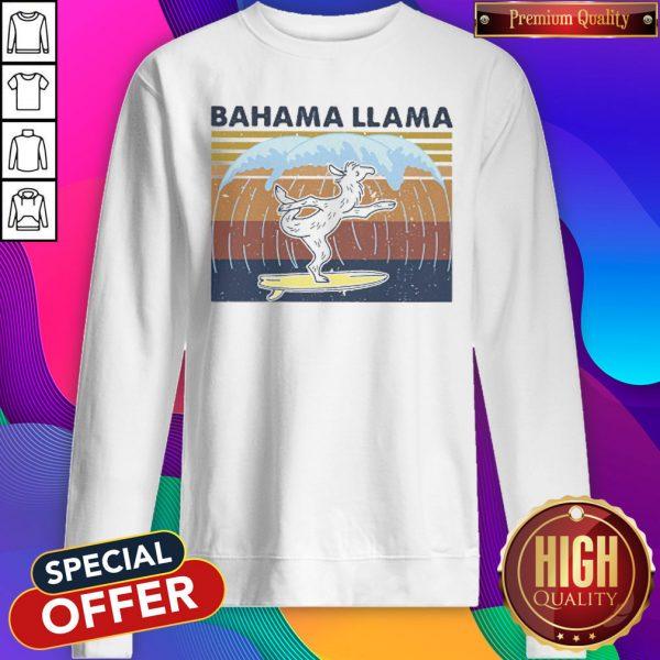 Bahama Llama Dancing Vintage Sweatshirt