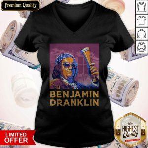 Ben Drankin 4th Of July Benjamin Dranklin V- neck