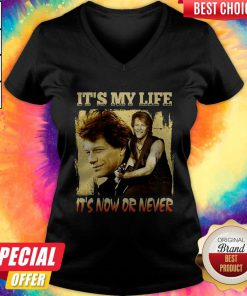 Bon Jovi It's My Life It's Now Or Never V- neck