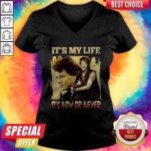 Bon Jovi It's My Life It's Now Or Never V- neck