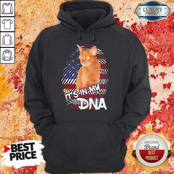 Cat It's In My DNA American Hoodiea