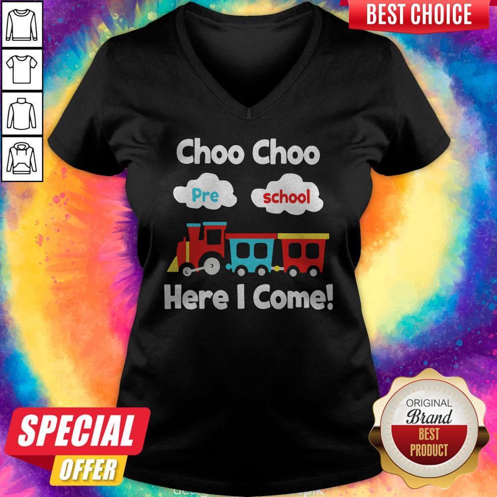Choo Choo Pre School Here I Come  V-neck