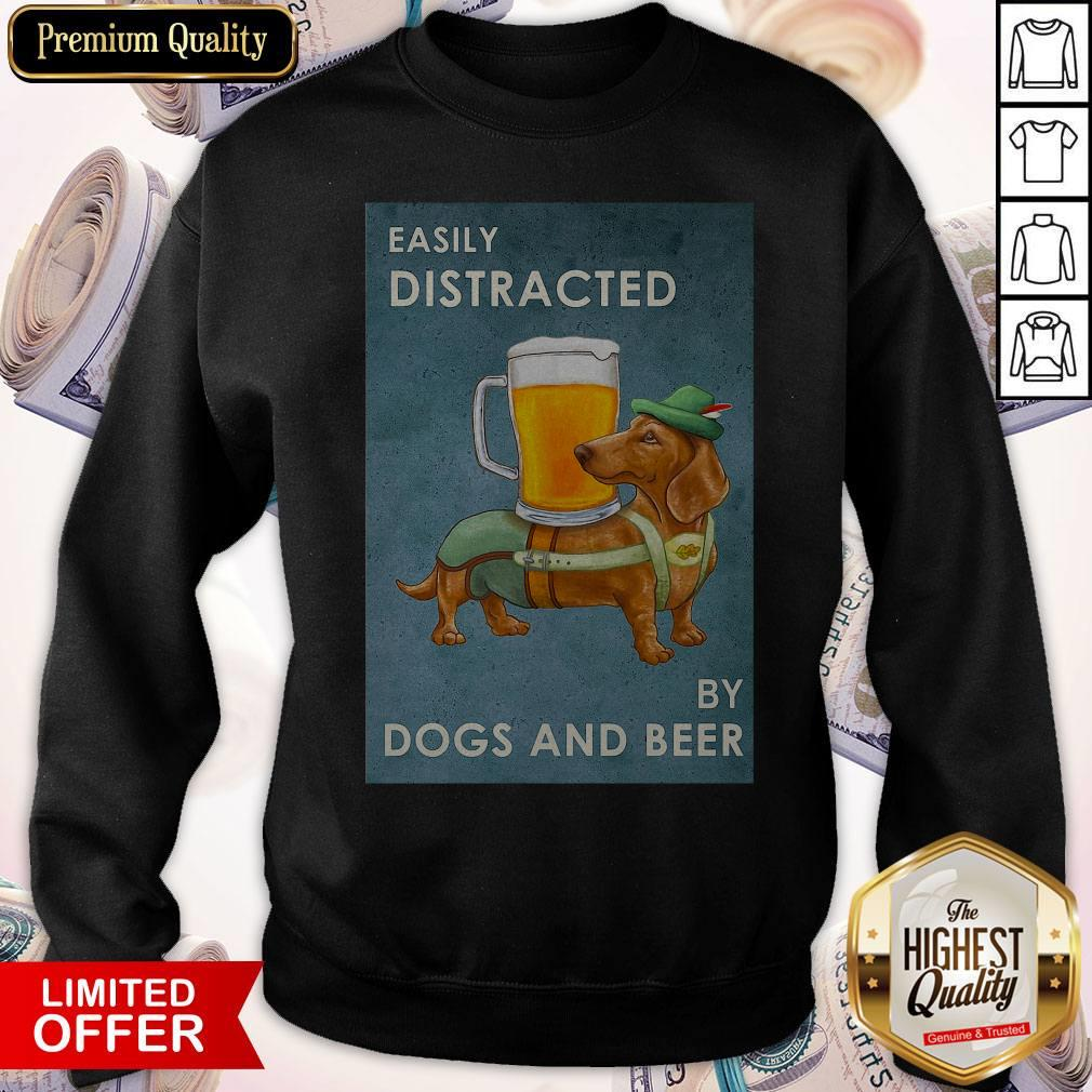 Easily Distracted By Dogs And Beer Easily Distracted By Dogs And Beer Tank Top