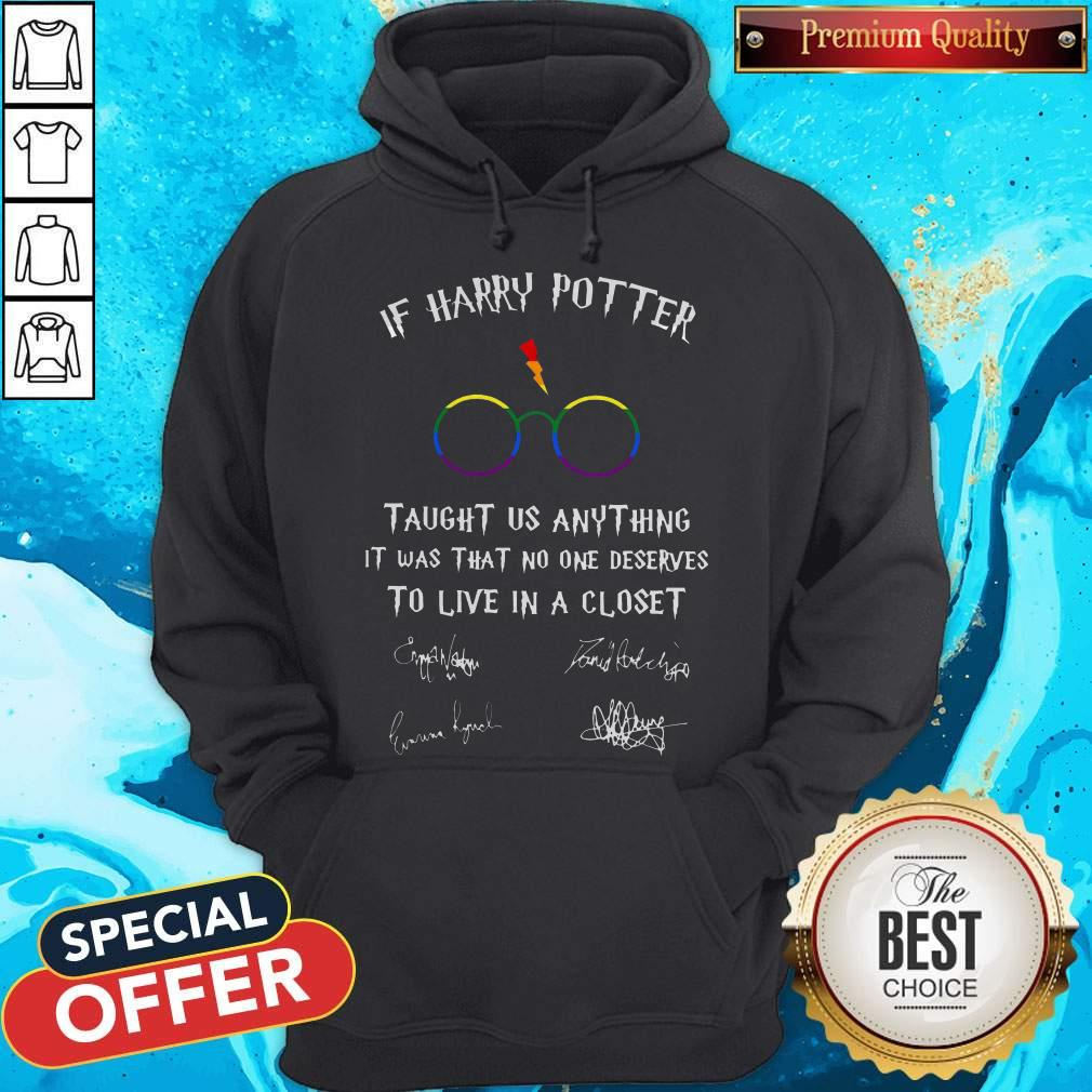 Happy LGBT If Harry Potter Taught Us Anything It Was That No One Hoodiea