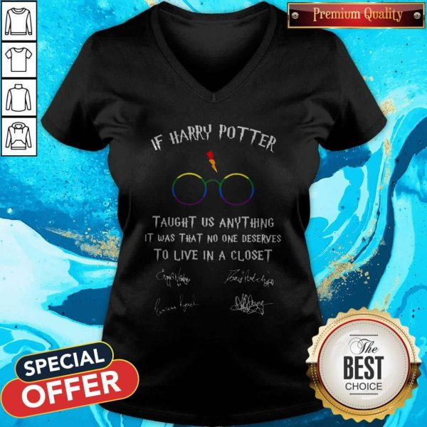 Happy LGBT If Harry Potter Taught Us Anything It Was That No One V- neck