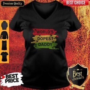Hot World's Dopest Daddy Cannabis V-neck