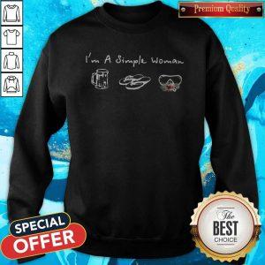I'm A Simple Woman Loves Beer Flip Flop Swimming Glasses Sweatshirt