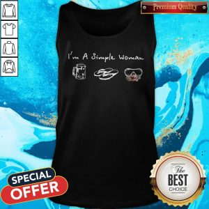I'm A Simple Woman Loves Beer Flip Flop Swimming Glasses Tank Top