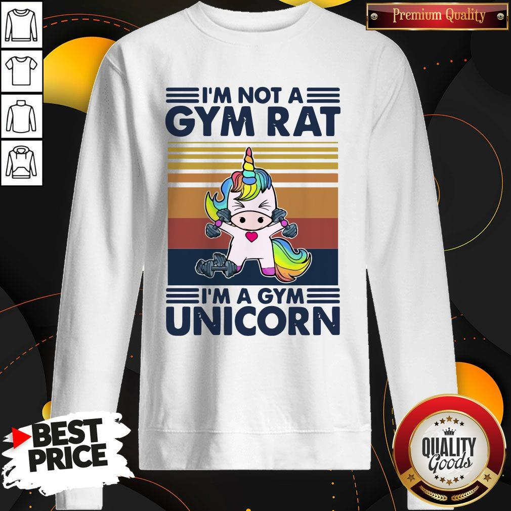 I'm Not A GYM Rat I'm A Gym Unicorn Vintage Sweatshirt