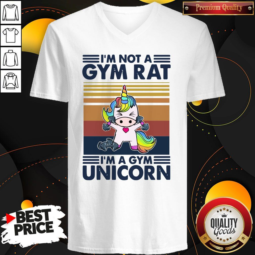 I'm Not A GYM Rat I'm A Gym Unicorn Vintage V- neck
